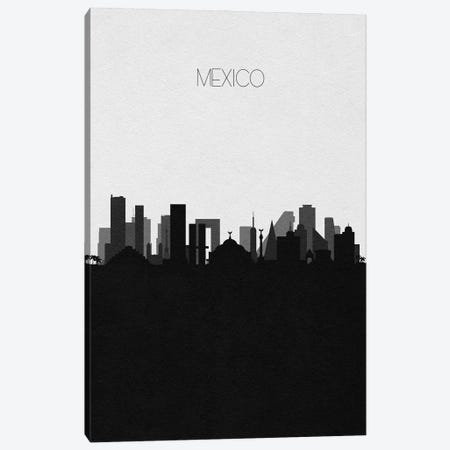 Mexico City Skyline Canvas Print #ADA465} by Ayse Deniz Akerman Canvas Wall Art