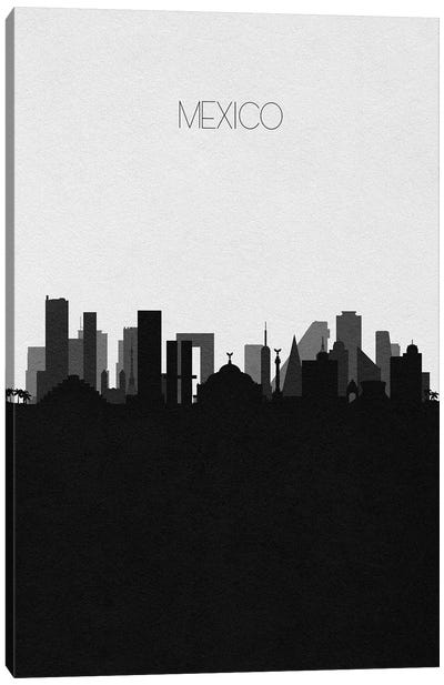 Mexico City Skyline Canvas Art Print