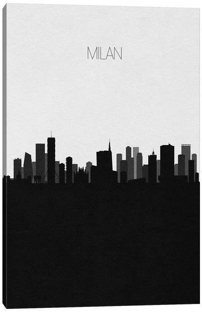 Milan, Italy City Skyline Canvas Art Print