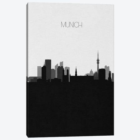 Munich, Germany City Skyline Canvas Print #ADA467} by Ayse Deniz Akerman Canvas Art