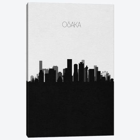Osaka, Japan City Skyline Canvas Print #ADA468} by Ayse Deniz Akerman Canvas Art Print