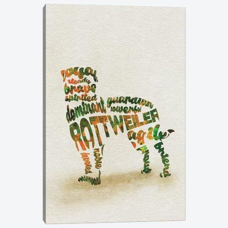 Rottweiler Canvas Print #ADA46} by Ayse Deniz Akerman Canvas Art