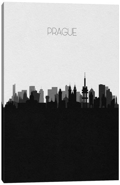 Prague, Czechia City Skyline Canvas Art Print