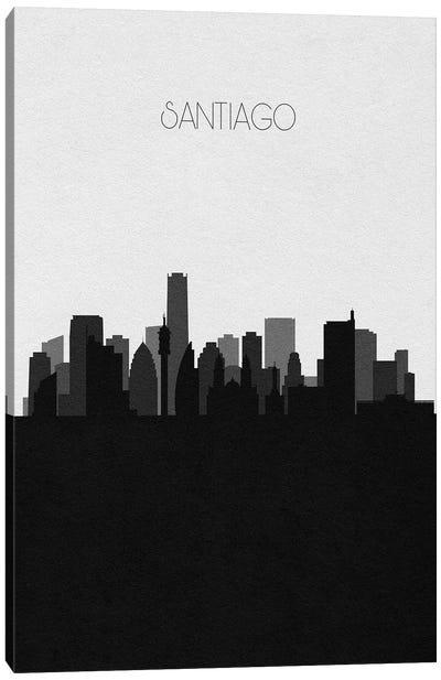 Santiago, Chile City Skyline Canvas Art Print