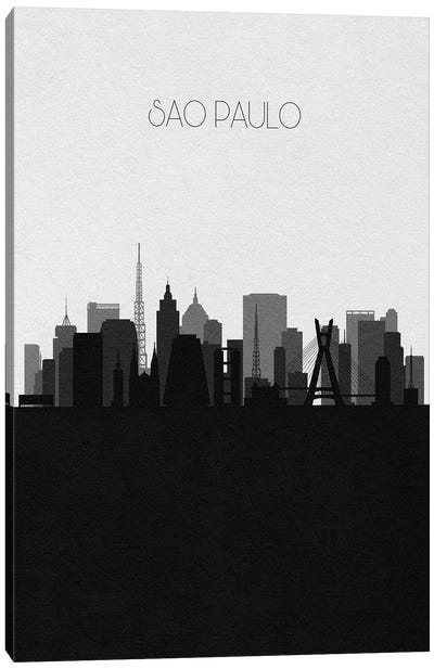 Sao Paulo, Brazil City Skyline Canvas Art Print
