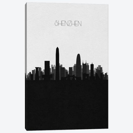 Shenzhen, China City Skyline Canvas Print #ADA477} by Ayse Deniz Akerman Canvas Print