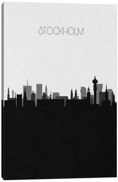 Stockholm, Sweden City Skyline Canvas Art Print