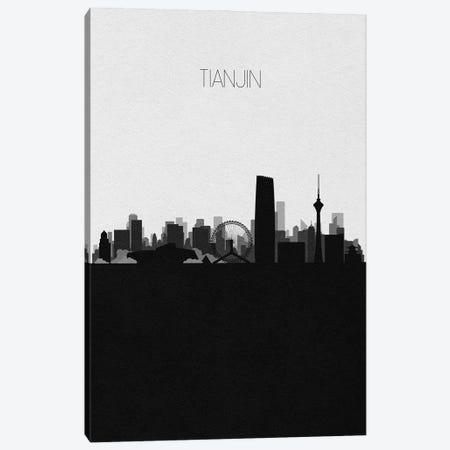 Tianjin, China City Skyline Canvas Print #ADA481} by Ayse Deniz Akerman Art Print