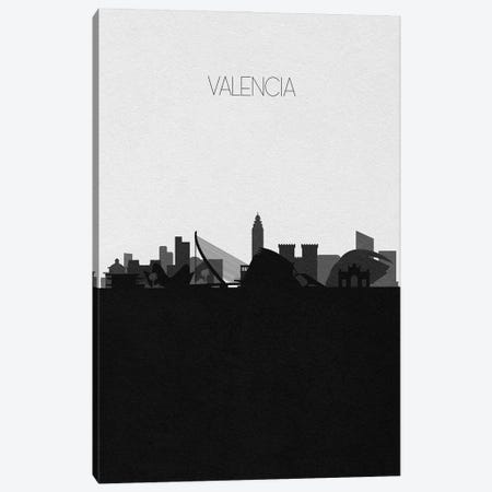 Valencia, Spain City Skyline Canvas Print #ADA482} by Ayse Deniz Akerman Canvas Art Print