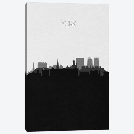 York, England City Skyline Canvas Print #ADA485} by Ayse Deniz Akerman Canvas Wall Art