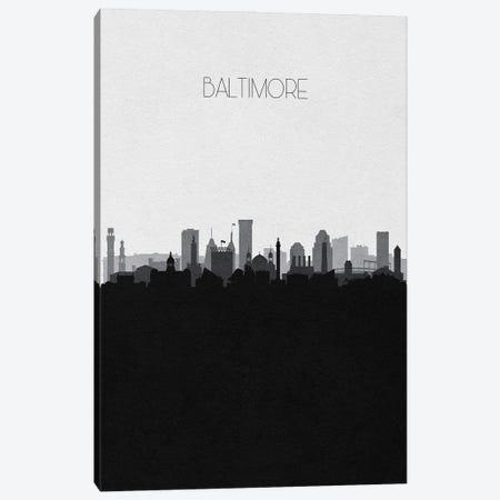 Baltimore Skyline Canvas Print #ADA488} by Ayse Deniz Akerman Canvas Print