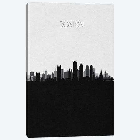 Boston Skyline Canvas Print #ADA489} by Ayse Deniz Akerman Canvas Art Print