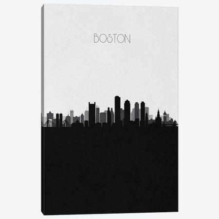 Boston Skyline Canvas Print #ADA489} by Ayse Deniz Akerman Canvas Art Print