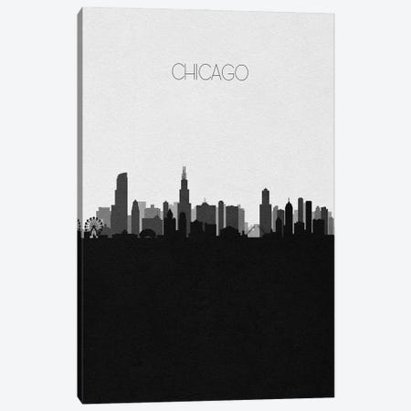 Chicago Skyline Canvas Print #ADA490} by Ayse Deniz Akerman Canvas Art