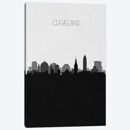 Cleveland Skyline Canvas Print #ADA491} by Ayse Deniz Akerman Canvas Artwork