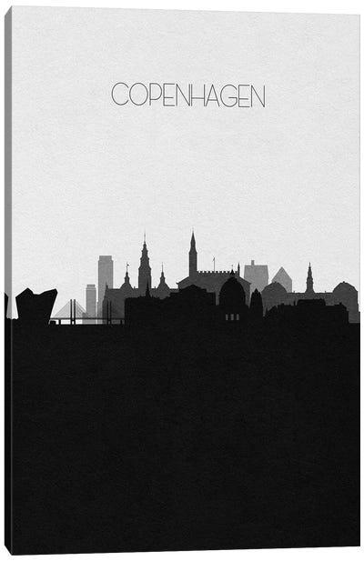Copenhagen, Denmark City Skyline Canvas Art Print