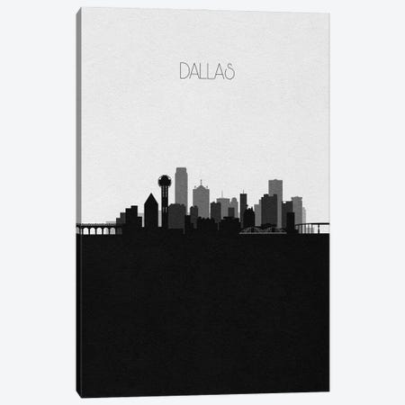 Dallas Skyline Canvas Print #ADA493} by Ayse Deniz Akerman Canvas Art