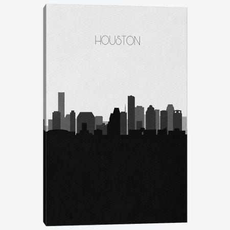 Houston Skyline Canvas Print #ADA496} by Ayse Deniz Akerman Art Print