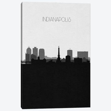 Indianapolis Skyline Canvas Print #ADA497} by Ayse Deniz Akerman Art Print
