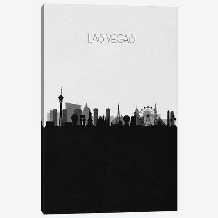 Las Vegas Skyline Canvas Print #ADA499} by Ayse Deniz Akerman Canvas Art
