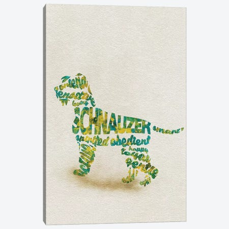 Schnauzer Canvas Print #ADA49} by Ayse Deniz Akerman Canvas Art Print