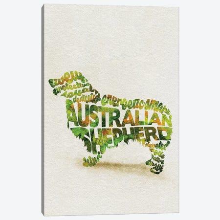 Australian Shepherd Canvas Print #ADA4} by Ayse Deniz Akerman Canvas Wall Art
