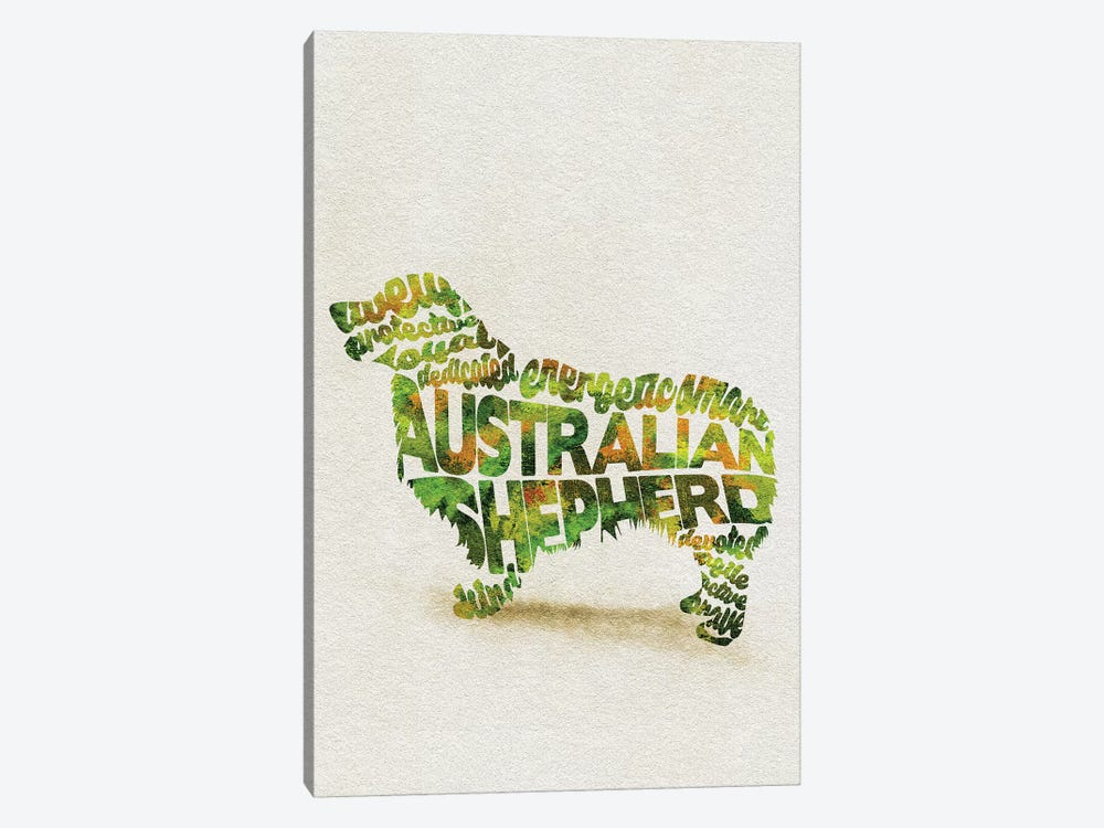 Australian Shepherd by Ayse Deniz Akerman 1-piece Art Print