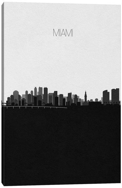 Miami Skyline Canvas Art Print