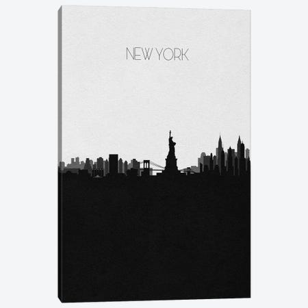 New York City Skyline Canvas Print #ADA507} by Ayse Deniz Akerman Canvas Print