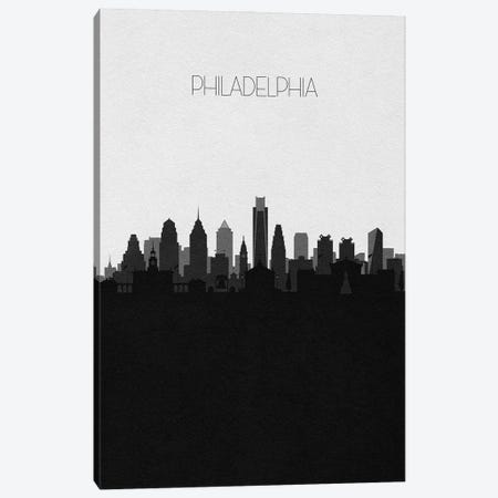 Philadelphia Skyline Canvas Print #ADA508} by Ayse Deniz Akerman Canvas Artwork