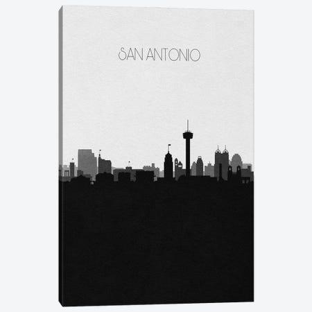 San Antonio Skyline Canvas Print #ADA513} by Ayse Deniz Akerman Art Print