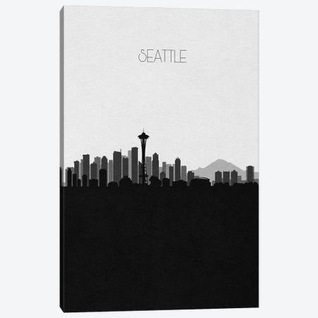 Seattle Skyline Canvas Print #ADA516} by Ayse Deniz Akerman Canvas Art