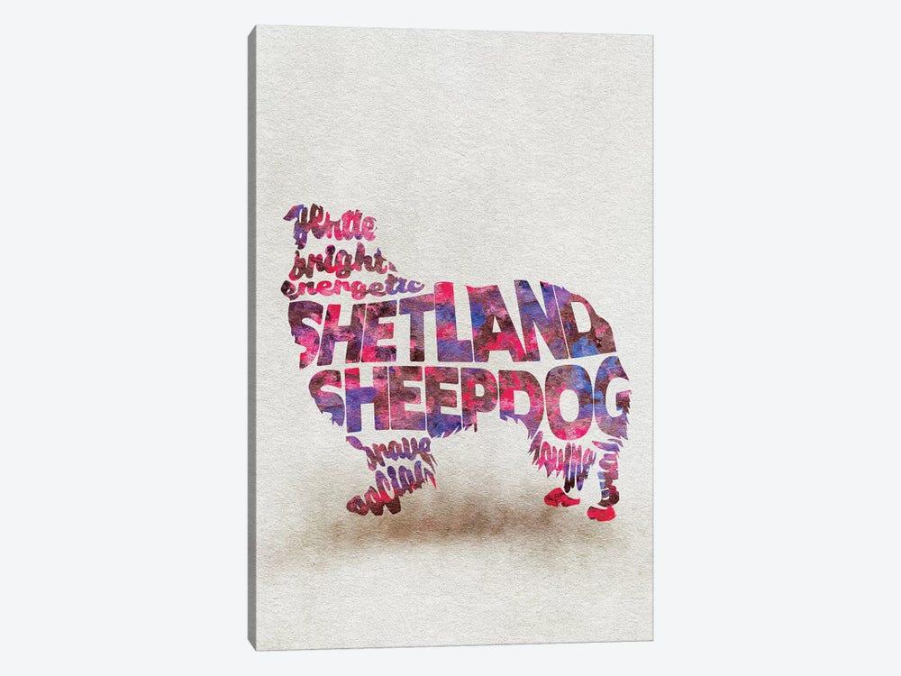 Shetland Sheepdog by Ayse Deniz Akerman 1-piece Canvas Art Print