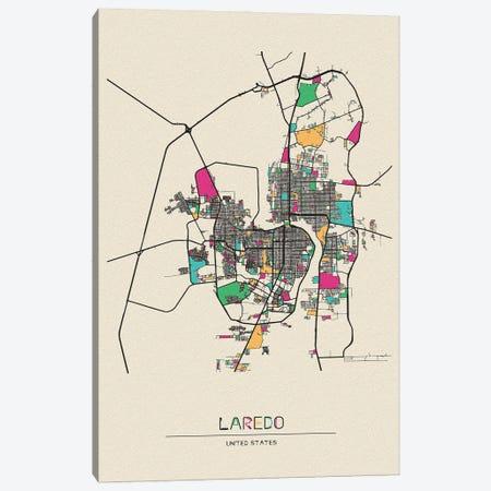 Laredo, Texas Map Canvas Print #ADA527} by Ayse Deniz Akerman Art Print