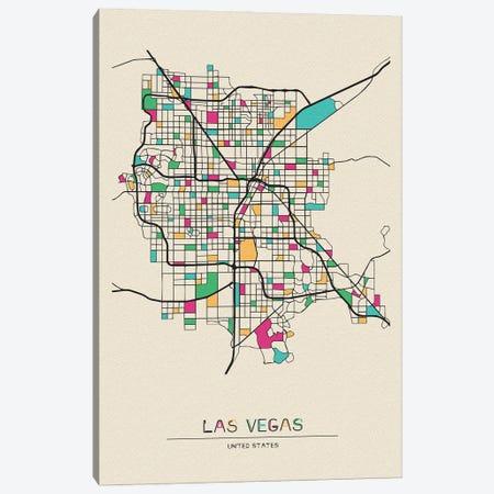 Las Vegas, Nevada Map Canvas Print #ADA528} by Ayse Deniz Akerman Canvas Wall Art
