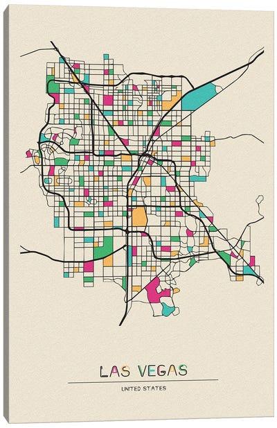 Las Vegas, Nevada Map Canvas Art Print