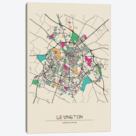 Lexington, Kentucky Map Canvas Print #ADA530} by Ayse Deniz Akerman Canvas Print