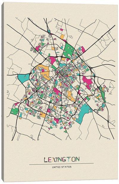 Lexington, Kentucky Map Canvas Art Print