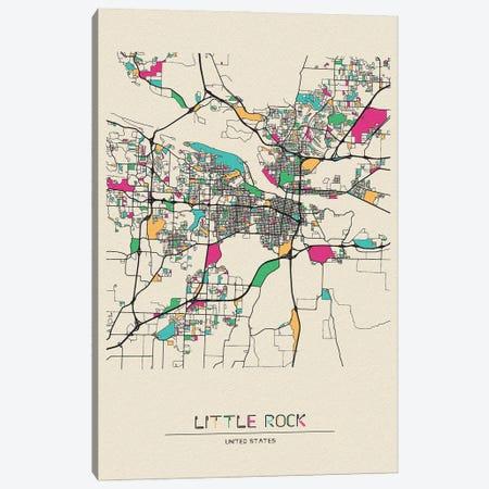 Little Rock, Arkansas Map Canvas Print #ADA534} by Ayse Deniz Akerman Canvas Art