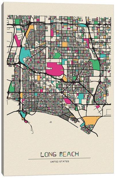 Long Beach, California Map Canvas Art Print