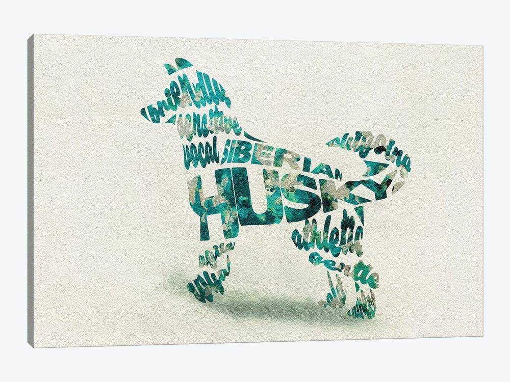 Siberian Husky by Ayse Deniz Akerman 1-piece Canvas Print