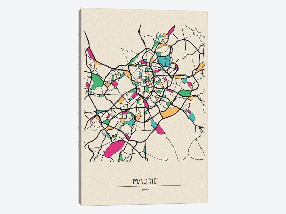 Madrid, Spain Map by Ayse Deniz Akerman 1-piece Art Print