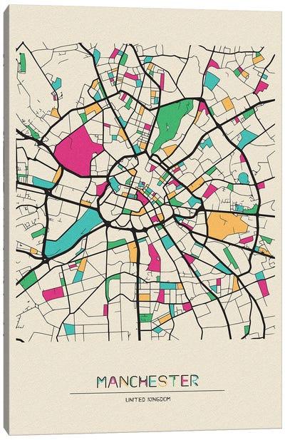 Manchester, England Map Canvas Art Print