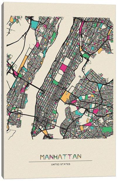 Manhattan, New York Map Canvas Art Print