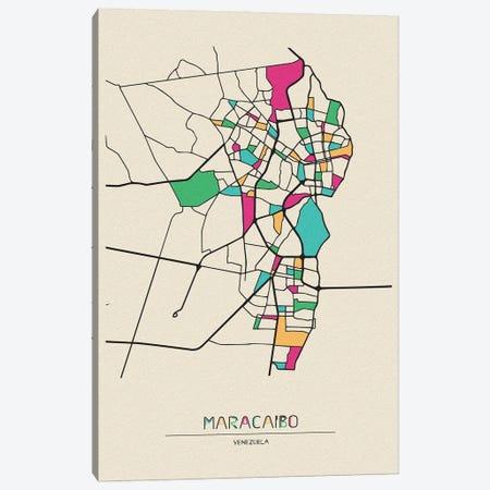 Maracaibo, Venezuela Map Canvas Print #ADA553} by Ayse Deniz Akerman Art Print