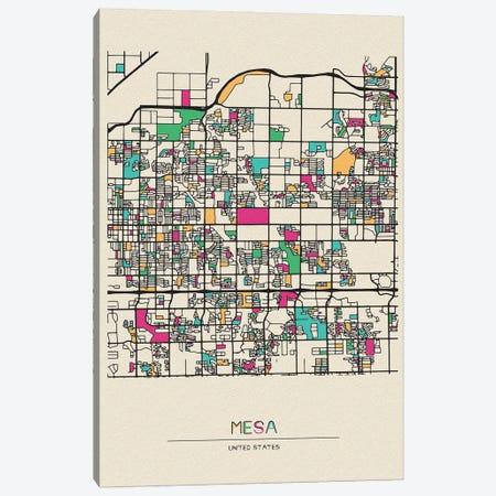 Mesa, Arizona Map Canvas Print #ADA560} by Ayse Deniz Akerman Canvas Art