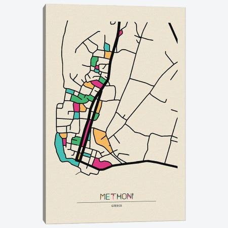 Methoni, Greece Map Canvas Print #ADA561} by Ayse Deniz Akerman Canvas Artwork