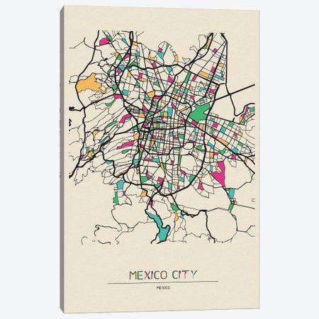 Mexico City Map Canvas Print #ADA562} by Ayse Deniz Akerman Canvas Wall Art