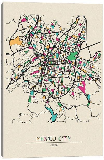 Mexico City Map Canvas Art Print