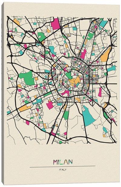 Milan, Italy Map Canvas Art Print
